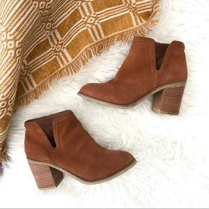 Anthropologie Suede Leather brown Booties Size 8